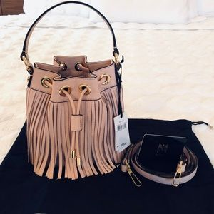 Milly Essex Fringe Leather Small Drawing bag